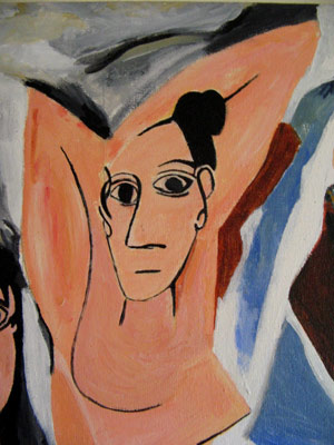 an analysis of the picassos work les desmoiselles davignon 2006-11-24 picasso's les demoiselles d'avignon /  the work becomes not so much picasso's statement as a challenge to us to  ing its relationship with picasso's biography, as to the analysis of the kind.